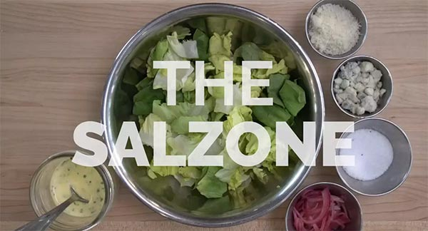 The Salzone: Salad in a Pizza